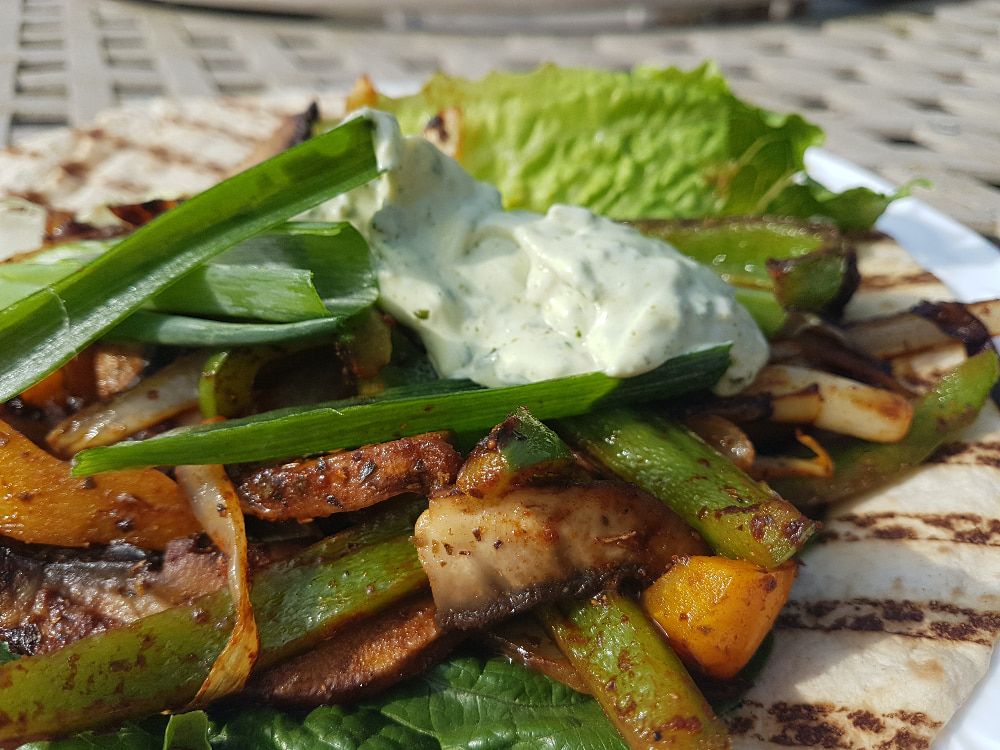 Veggie Fajita's with Super Green Mayo